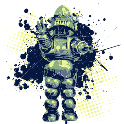 Distressed Robby the Robot