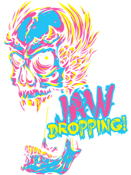 CMYK Skull Jaw Dropping
