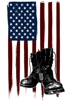 American Flag and Boots