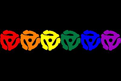 Rainbow 45 RPM Adapters