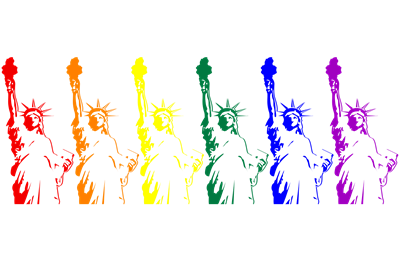 Rainbow Statue of Liberty