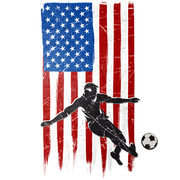 USA Flag Team Soccer