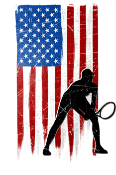 USA Flag Team Tennis