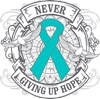 Support Ovarian Cancer Awareness Month Teal Ribbon