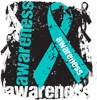 Ovarian Cancer Teal Ribbon