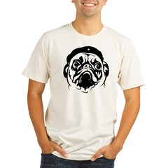 Pug Revolutionary Icon- Ash Grey Organic Men's Fitted T-Shirt