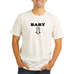BABY with arrow Organic Men's Fitted T-Shirt
