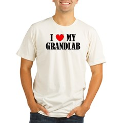 I Love My Grandlab Organic Men's Fitted T-Shirt