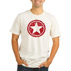 Red Circle Star black shirt Organic Men's Fitted T-Shirt