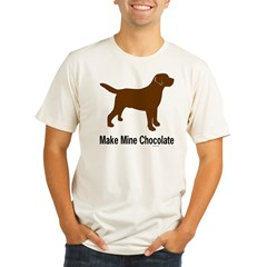 Make Mine Chocolate La Organic Men's Fitted T-Shirt