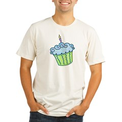 Cute Cupcake (blue) Organic Men's Fitted T-Shirt