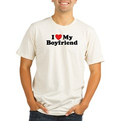 I Love My Boyfriend Organic Men's Fitted T-Shirt