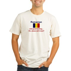 Good Looking Romanian Organic Men's Fitted T-Shirt