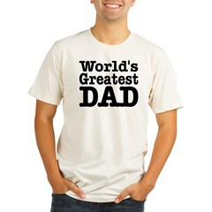 World's Greatest Dad Ash Grey Organic Men's Fitted T-Shirt