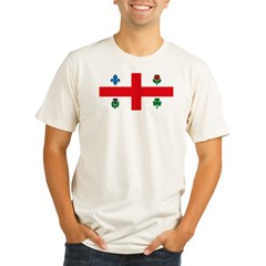 Montreal Flag Organic Men's Fitted T-Shirt