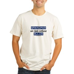 Grandpas are...rules! Organic Men's Fitted T-Shirt