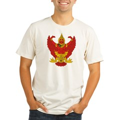 Thailand Emblem Ash Grey Organic Men's Fitted T-Shirt