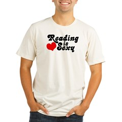 Reading is sexy Organic Men's Fitted T-Shirt