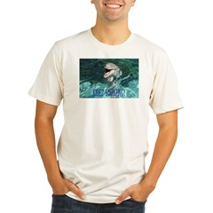 dolphin-keep smiling.jpg Organic Men's Fitted T-Shirt