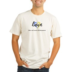 """Love does not count chromosomes"" Ash Grey Organic Men's Fitted T-Shirt"
