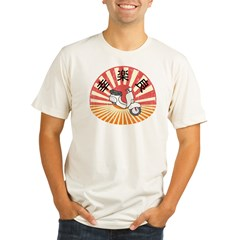 Super Fun Happy Bike Organic Men's Fitted T-Shirt