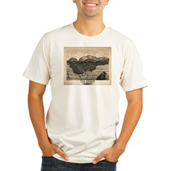 Antique map of Bar Harbor, Ma Organic Men's Fitted T-Shirt