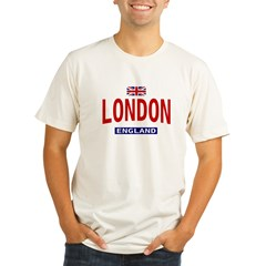 London England Ash Grey Organic Men's Fitted T-Shirt