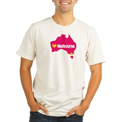 Love Melbourne Organic Men's Fitted T-Shirt