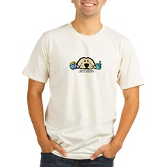 Life's Golden Beach Ash Grey Organic Men's Fitted T-Shirt