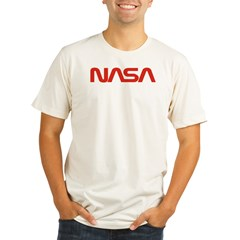 NASA Red Worm Lo Organic Men's Fitted T-Shirt