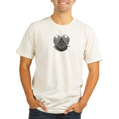 32nd degree Ash Grey Organic Men's Fitted T-Shirt