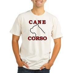 Cane Corso Logo Red Organic Men's Fitted T-Shirt
