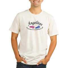 Angelitos Ninas y Ninos Ash Grey Organic Men's Fitted T-Shirt
