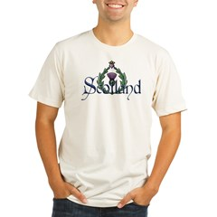 Scotland: Thistle Organic Men's Fitted T-Shirt