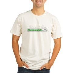 please-wait Organic Men's Fitted T-Shirt