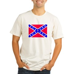 Rebel Flag Organic Men's Fitted T-Shirt