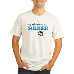 My heart belongs to a Soldier Organic Men's Fitted T-Shirt