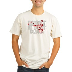 rugbyINMYBLOOD Organic Men's Fitted T-Shirt