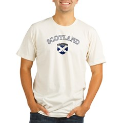 footballscotlandblack Organic Men's Fitted T-Shirt