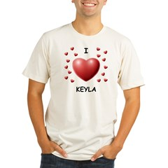 I Love Keyla - Organic Men's Fitted T-Shirt