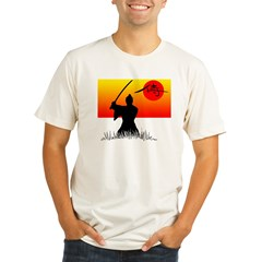 Samurai in Sun Organic Men's Fitted T-Shirt