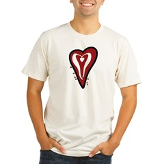 Valentine Dotty Heart Organic Men's Fitted T-Shirt