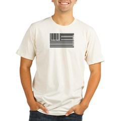 barcode flag Organic Men's Fitted T-Shirt