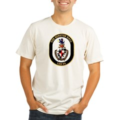 USS Gunston Hall LSD 44 Ash Grey Organic Men's Fitted T-Shirt