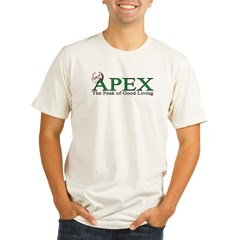 Apex North Carolina Peak of Good Living Organic Men's Fitted T-Shirt