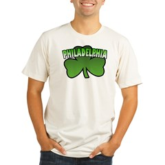 Philadelphia Shamrock Organic Men's Fitted T-Shirt