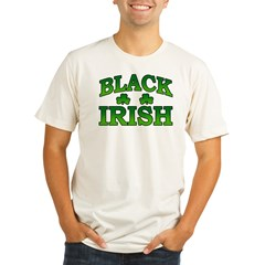 Black Irish Organic Men's Fitted T-Shirt