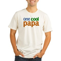 one cool papa grandpa t-shirts Organic Men's Fitted T-Shirt
