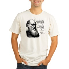 Darwin on Survival Organic Men's Fitted T-Shirt
