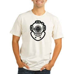 Diving Helme Organic Men's Fitted T-Shirt